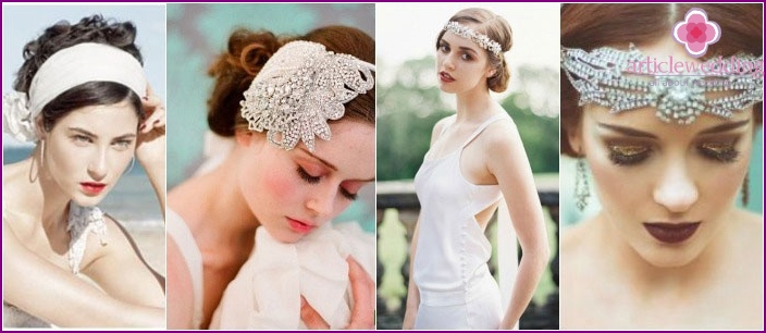 Romantic wedding styling with bandage