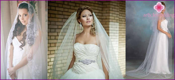 Photo: Wedding hairstyles for long hair with a long veil