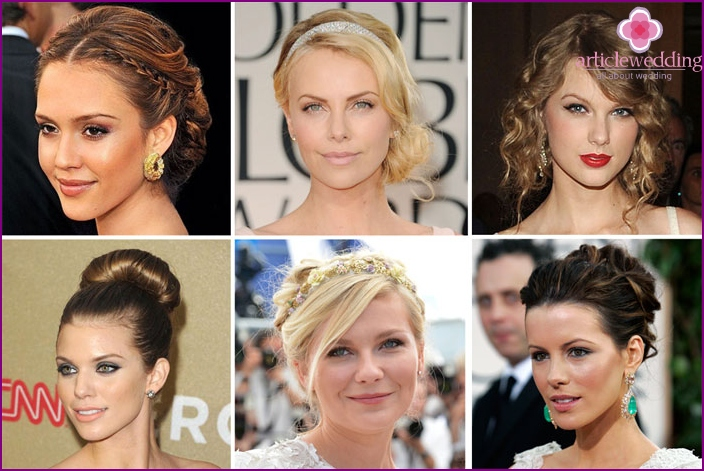 Styles of wedding hairstyles for bridal