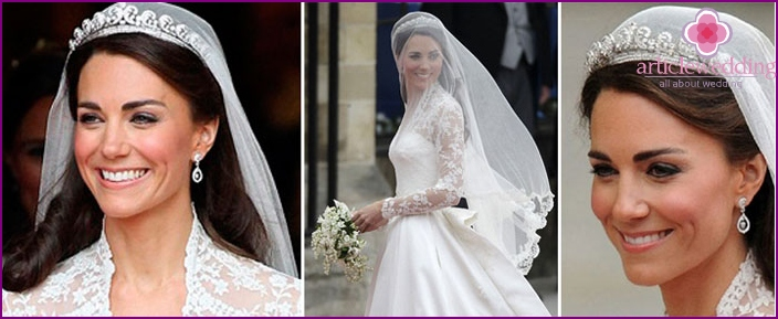 Aristocracy wedding hairstyles Princess Kate Middleton