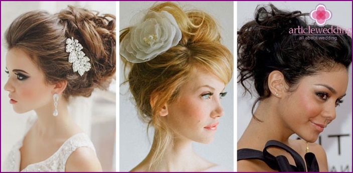 A beam with fleece and curls for wedding