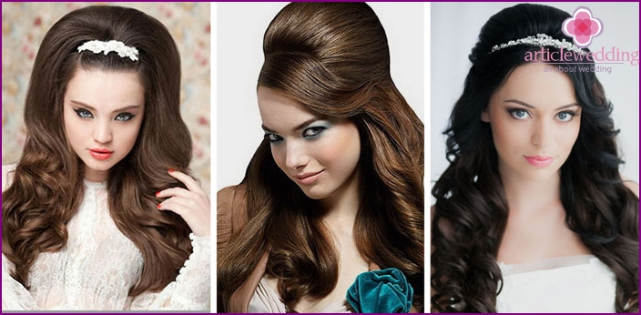 Hairstyles for a wedding with fleece