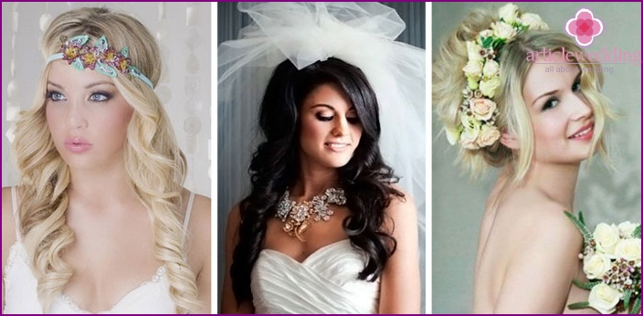 Decorations for wedding hairstyles with fleece