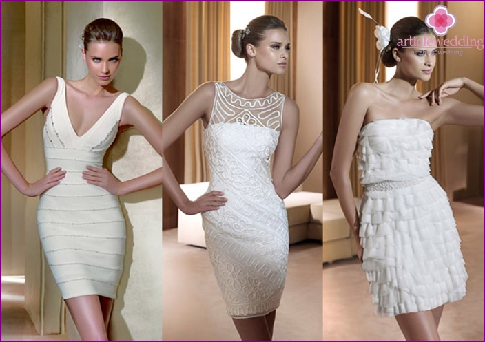 Short dress - the bride's choice of modern