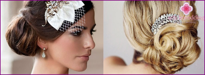 French Twist: hairstyle for the bride