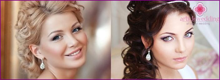 Bride with curls