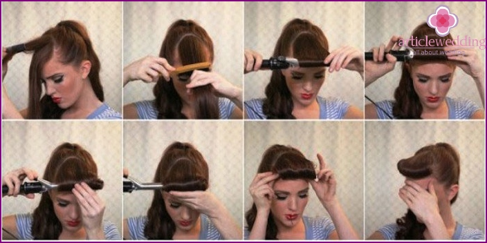 Retro-bang - an important part of hairstyles