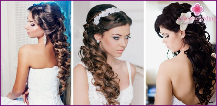 Hairstyles of overhead strands with clips