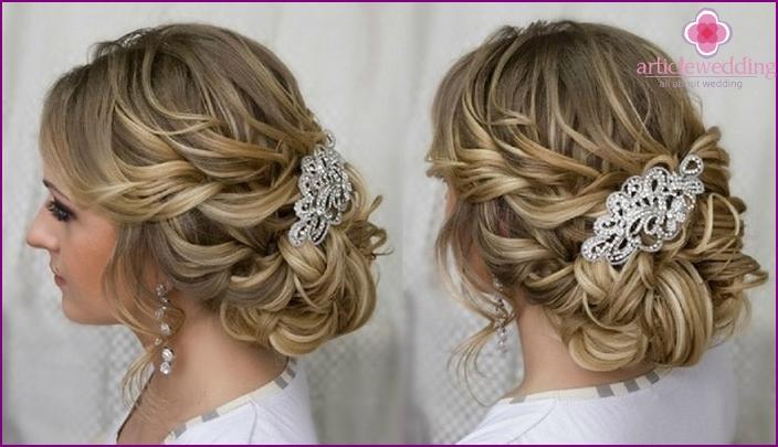 Прически на свадьбу средние волосы »