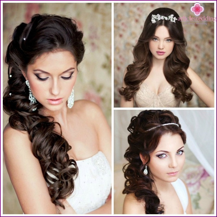 Options loose curls for the bride