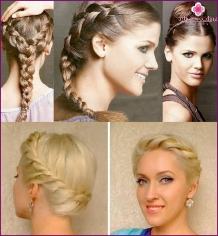 Photo: Bride hairstyle Greek Spit