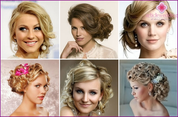Wedding Style: pinned curls side