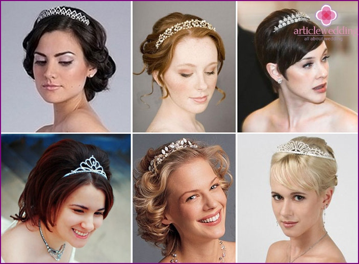 Diadem will make the bride a real princess