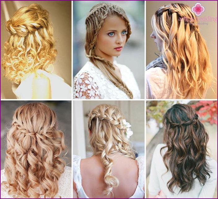 Wedding Spit waterfall on long hair