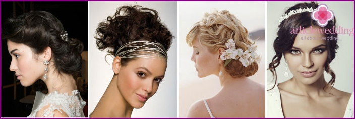 Greek wedding hairstyle