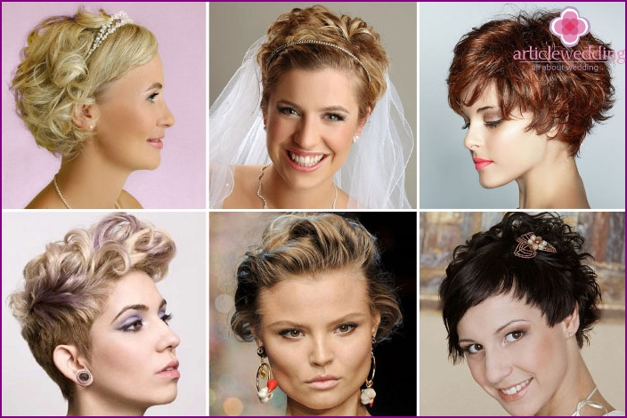 Hairstyle for wedding with curls for the bride