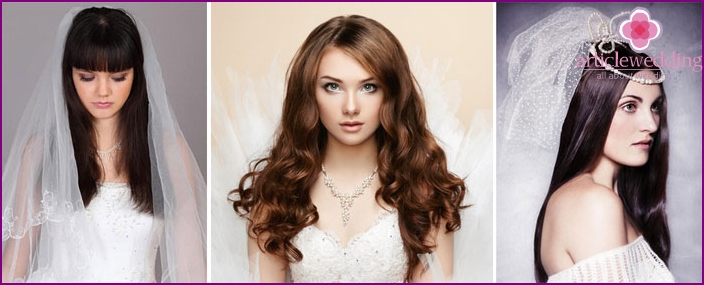 Hairstyle for wedding straight hair