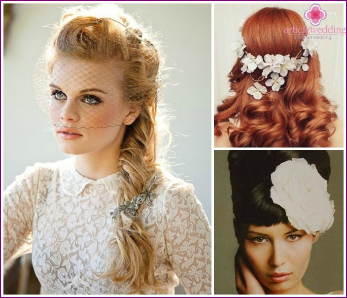 Wedding styling for light, dark, red hair