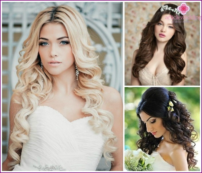 Options trendy hair styling with curls