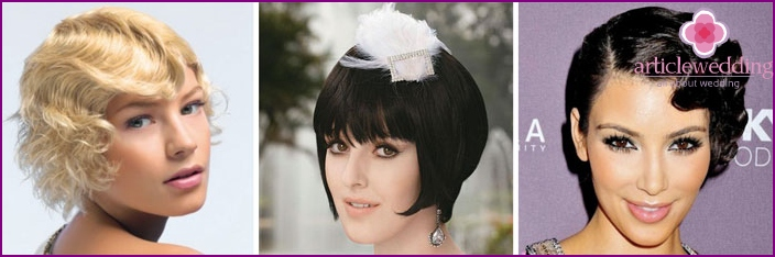 Wedding Hairstyles in retro style