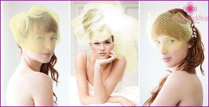 Wedding Veils: shades of yellow