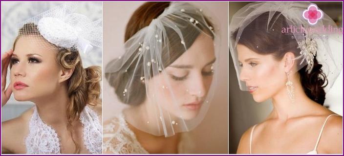 Photo: veil, short model