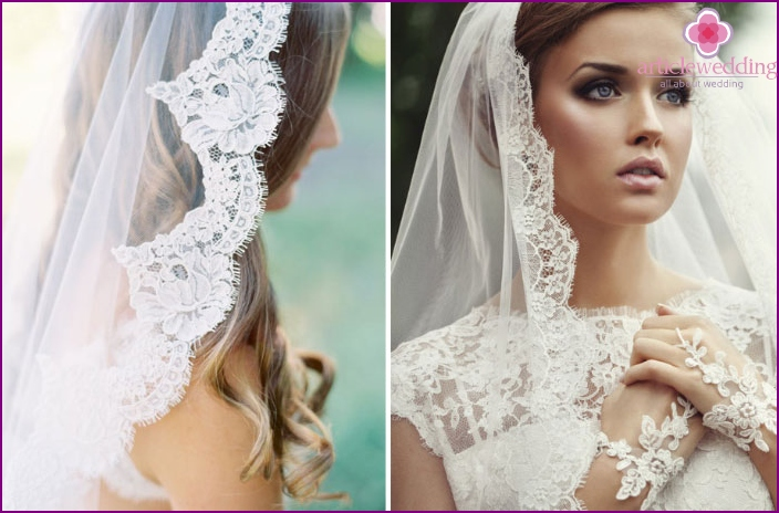 Decor lace veil