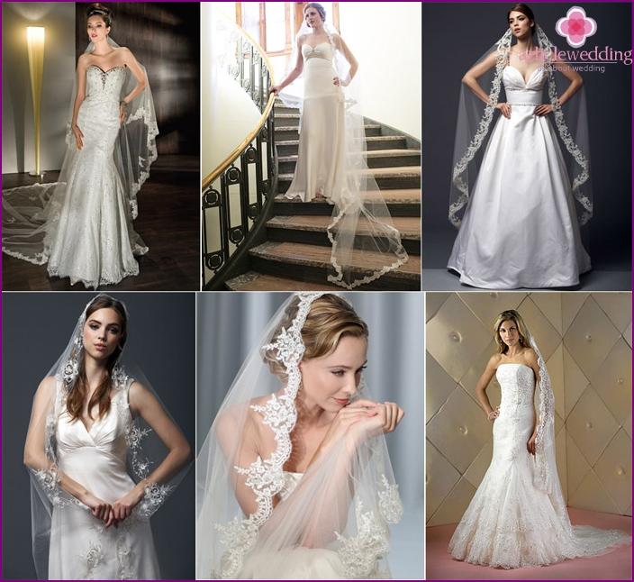 Italian style headdress bride
