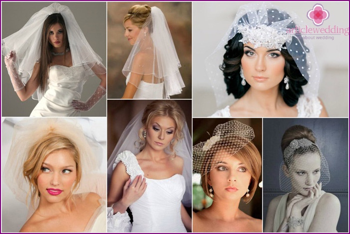 Wedding Hairstyles for a shorter veil