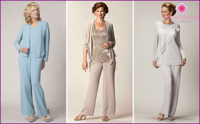 What to Wear mother of the bride: a model pantsuit