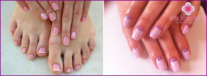 Wedding manicure shellac at home