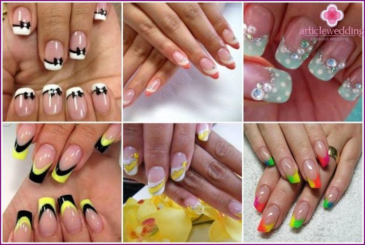 Wedding manicure-twist