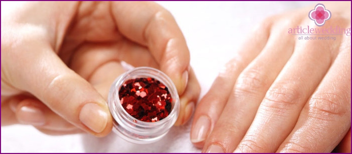 How to decorate your nails with colored crystals