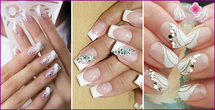 Snake crystal - coated nail bride