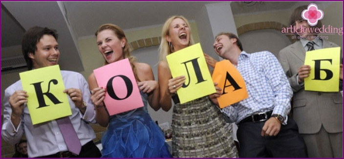 Wedding: contestants alphabet