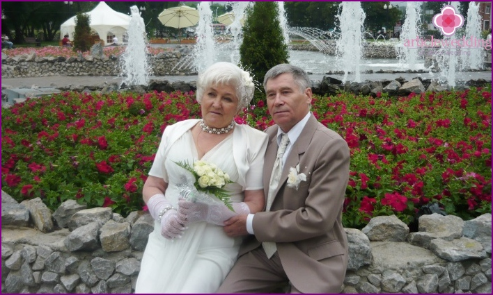 Golden wedding anniversary celebration