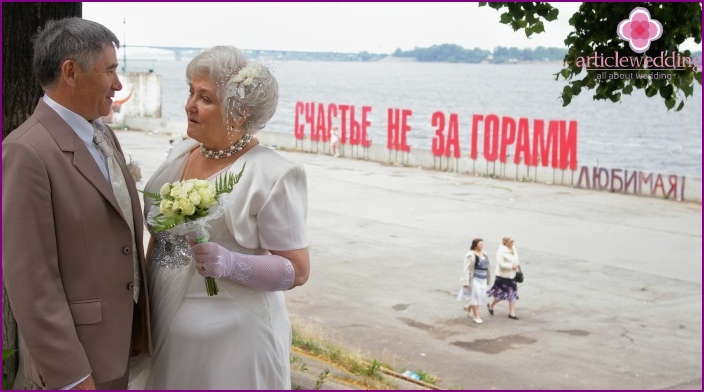 How to congratulate a gold wedding