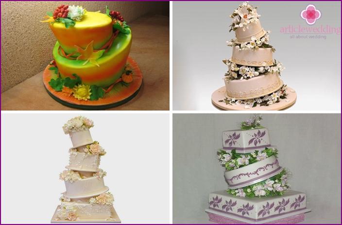 """Falling"" shaped desserts"