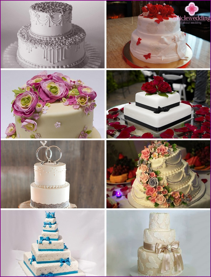 The original cakes for wedding