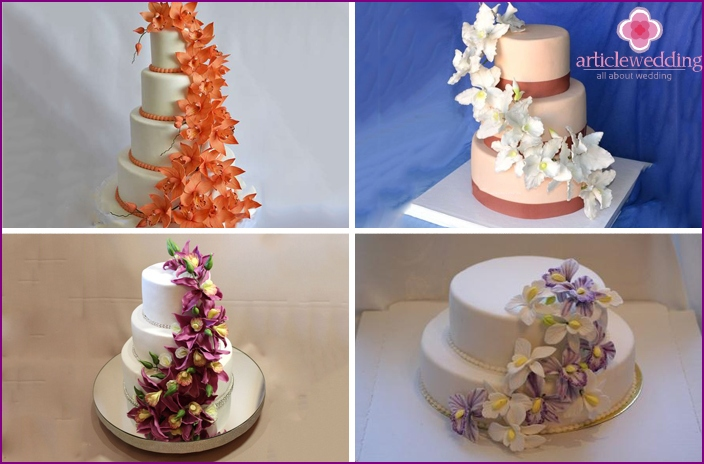 Desserts with floral cascade
