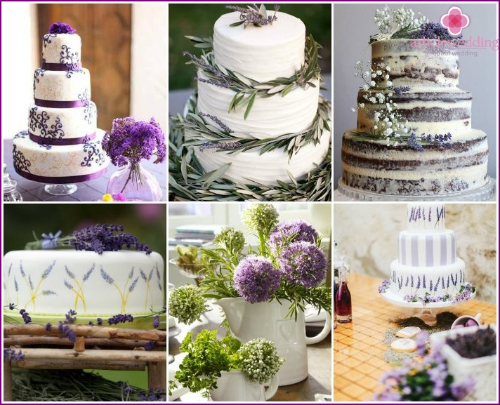 herbs cake decoration in the style of Provence
