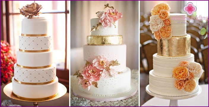 Gorgeous cakes colors of precious metals