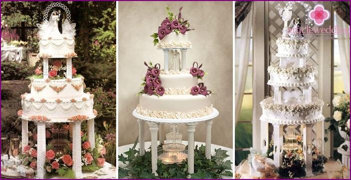 Cake in the form of a fountain - the original idea