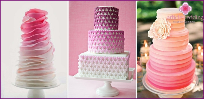 Ombre - perfect pink cake decorating reception