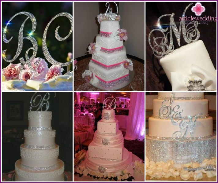 Desserts with rhinestones for wedding
