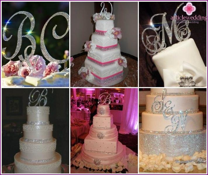 Desserts with rhinestones for wedding