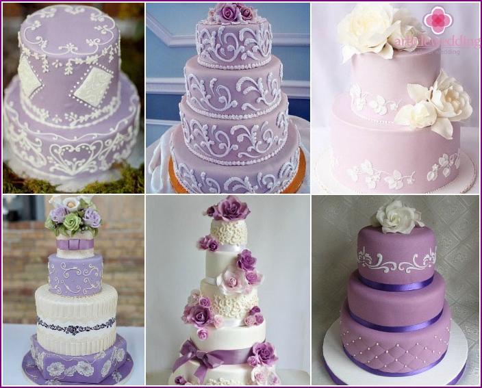 White design ornament purple cake