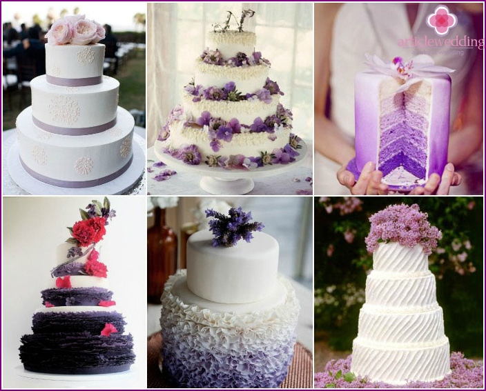 Flowers on top of a wedding dessert