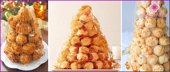 French wedding dessert croquembouche