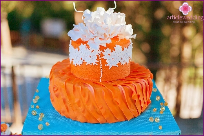 Orange cake for wedding